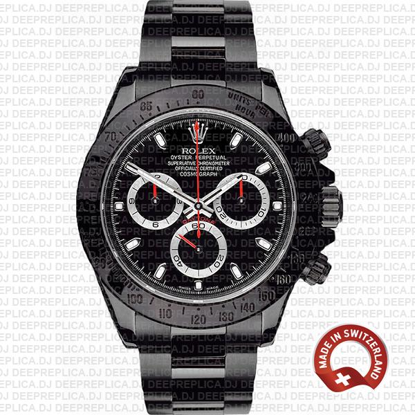Best Replica Rolex Cosmograph Daytona DLC Stainless Steel Black Dial Replica