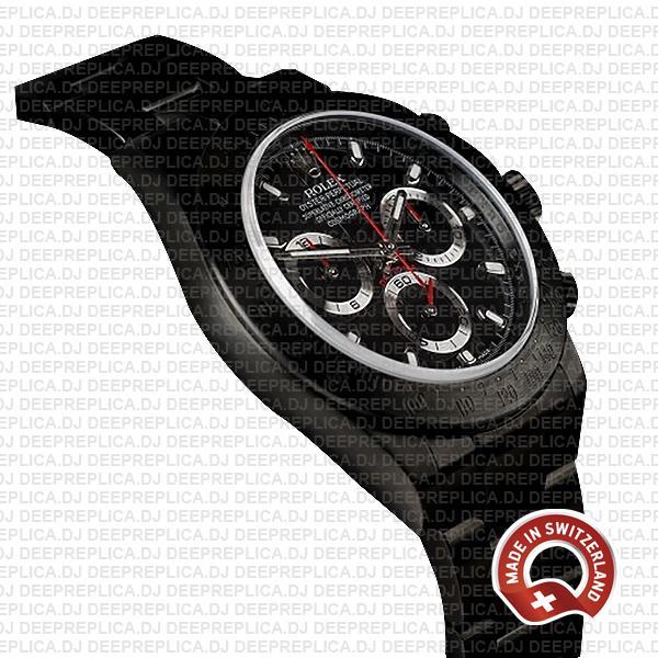 Rolex Daytona DLC Black Dial 40mm Swiss Replica Watch