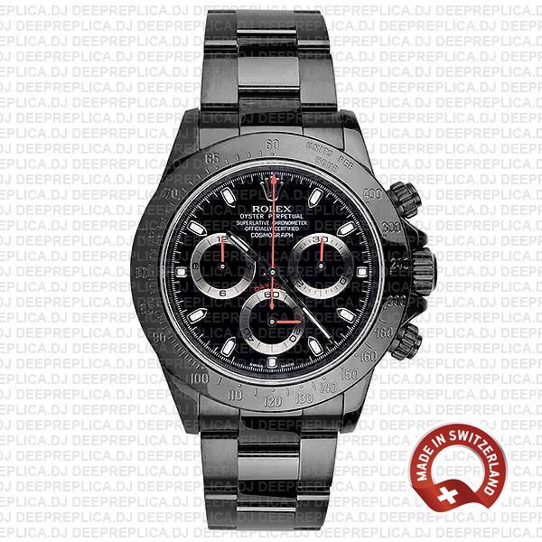 Best Replica Rolex Cosmograph Daytona DLC Stainless Steel Black Dial Replica Watch