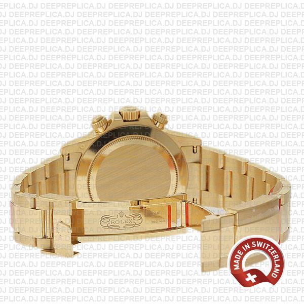 Rolex Daytona Yellow Gold 40mm Swiss Replica