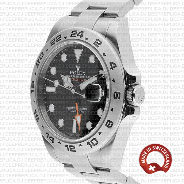 Rolex Explorer II Black Dial 42mm Luxury Rolex Replica Watch