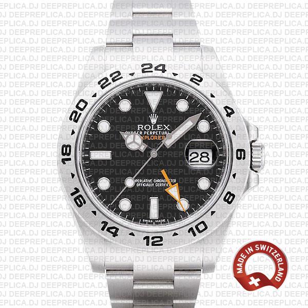 Rolex Explorer II Black Dial 42mm | Luxury Rolex Replica Watch