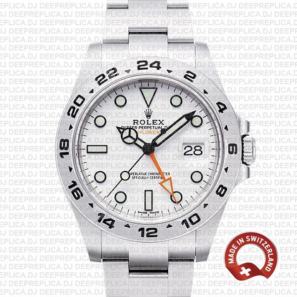 Rolex Explorer II 42mm White Dial | Best Swiss Replica Watch