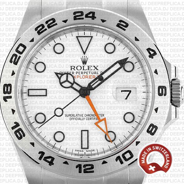 Rolex Explorer II 42mm White Dial Best Swiss Replica Watch