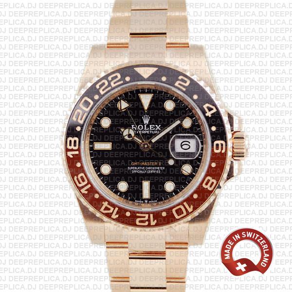 Rolex GMT-Master II Rose Gold 40mm   Swiss Replica Watch