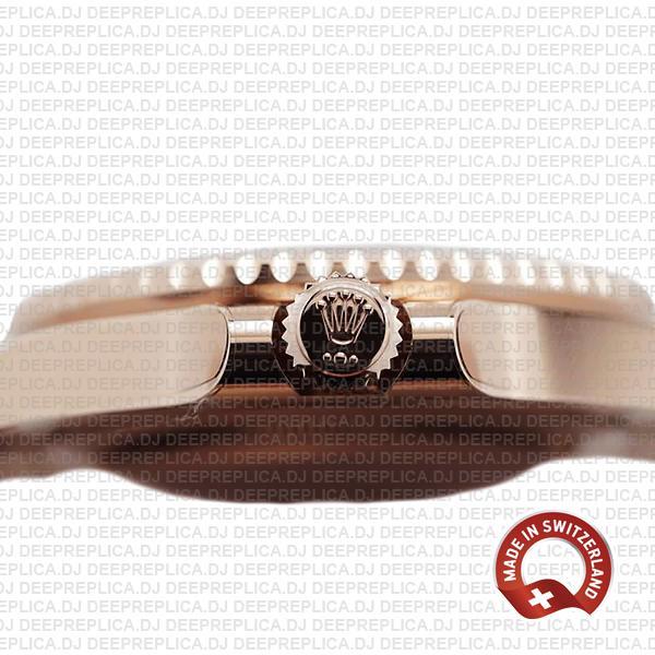 Rolex Gmt Master Ii 18k Rose Gold Ceramic Bezel Black Dial 126715chnr 40mm