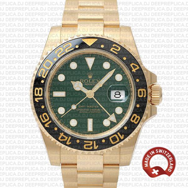 Rolex GMT-Master II Green Face Gold | Rolex Replica Watch