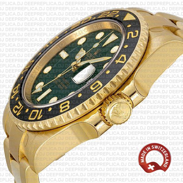 Rolex GMT-Master II Green Face Gold Rolex Replica Watch