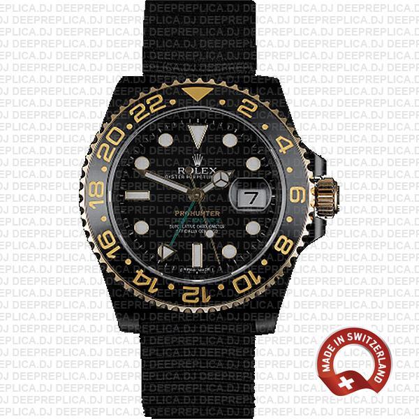 Rolex GMT-Master II Pro Hunter DLC Gold Swiss Replica Watch