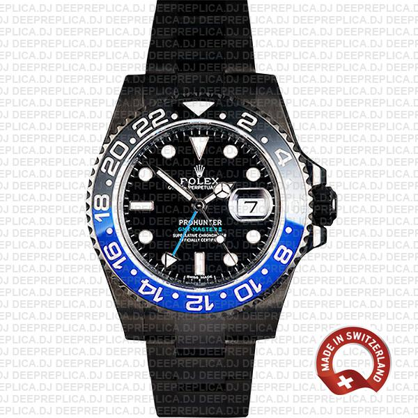 Rolex GMT-Master II Pro Hunter DLC Batman Replica Watch
