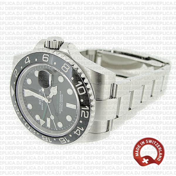 Rolex GMT-Master II Black Ceramic Bezel Best Swiss Replica Watch