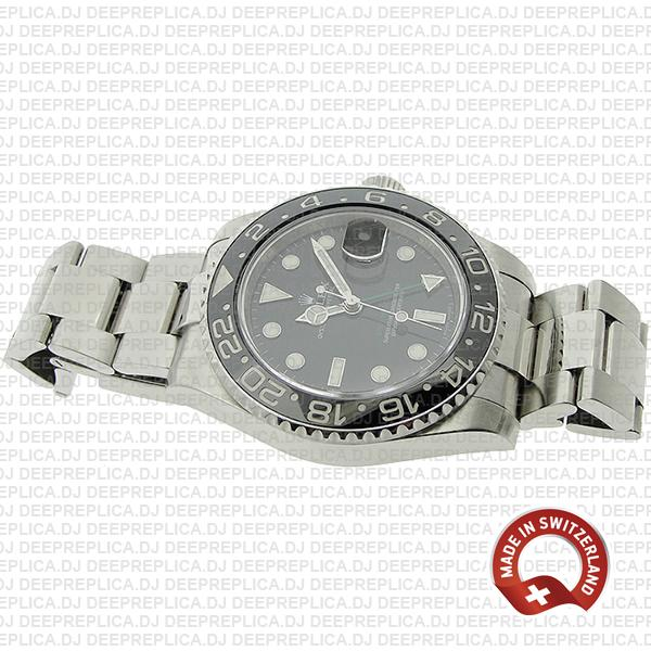Rolex GMT-Master II Stainless Steel Black Dial 40mm Rolex Replica Watch