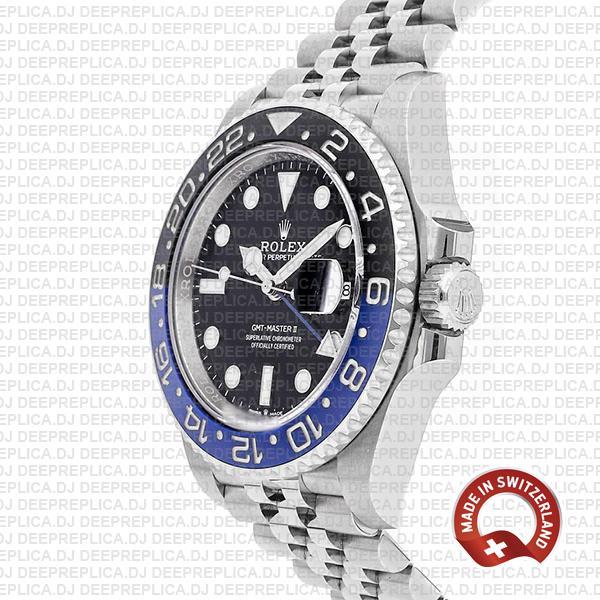 Rolex GMT-Master II Batman Black Dial 40mm Blue Black Ceramic Bezel in with 904L Steel Jubilee Bracelet