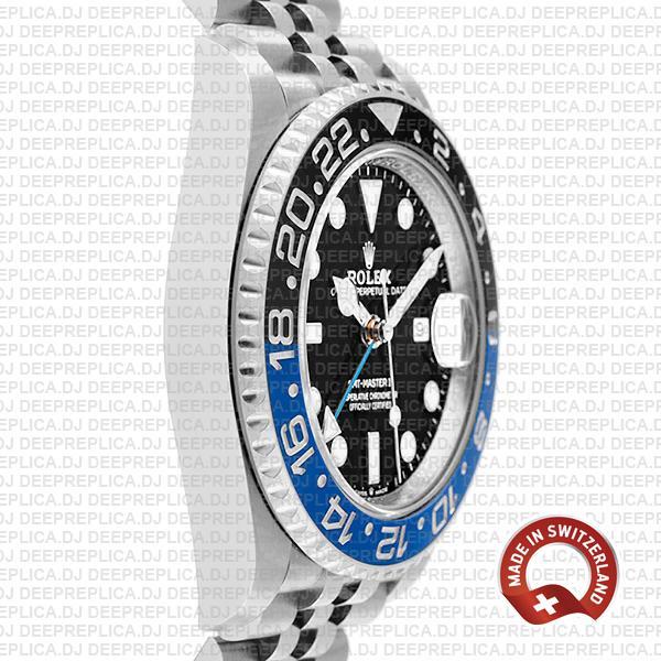 Rolex Gmt Master Ii Steel Jubilee Batman Blue Black Bezel 126710blnr 40mm