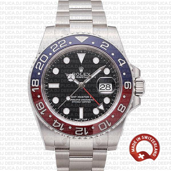 Rolex GMT-Master II Pepsi 18k White Gold | Best Replica Watch