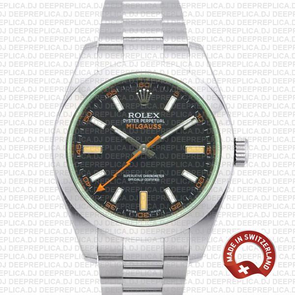 Rolex Milgauss Stainless Steel Green Dial | Best Replica Watch