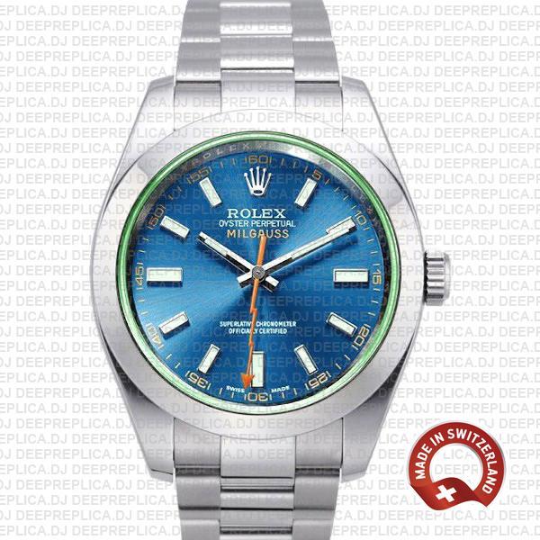 Rolex Milgauss Stainless Steel Blue Dial | Rolex Replica Watch