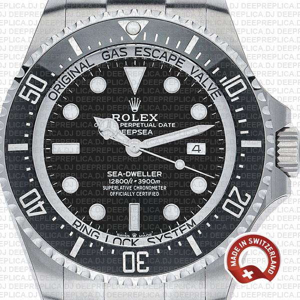 Rolex Sea-Dweller Black Dial 44mm Swiss Made Replica Watch