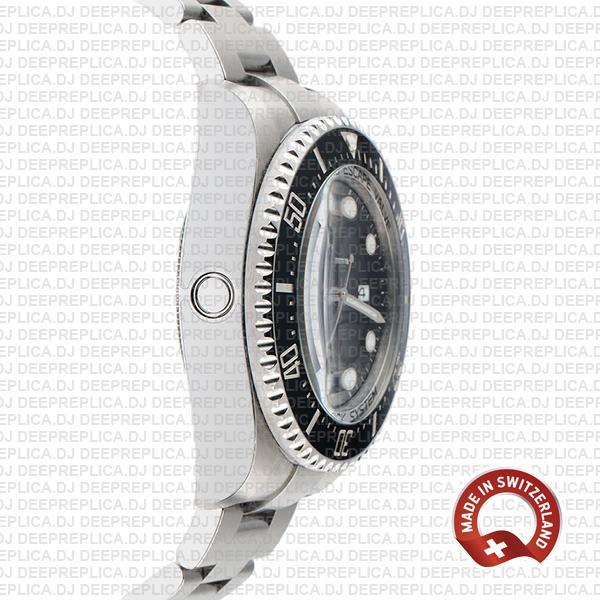 Rolex Deepsea Sea-Dweller Stainless Steel Oyster Perpetual Date Watch in Ceramic Bezel with Black Dial