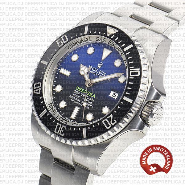 Rolex Deepsea D-Blue Sea-Dweller Blue-Black Dial 904L Steel 44mm 126660 Replica