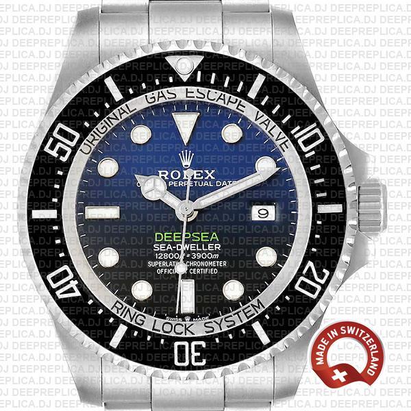 Rolex Deepsea D-Blue Sea-Dweller Blue-Black Dial 904L Steel 44mm 126660 Replica Watch