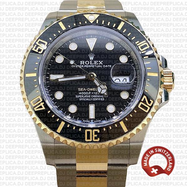Rolex Sea-Dweller Deepsea 18k Yellow Gold, Two Tone in 904L Stainless Steel Ceramic Bezel 43mm Replica