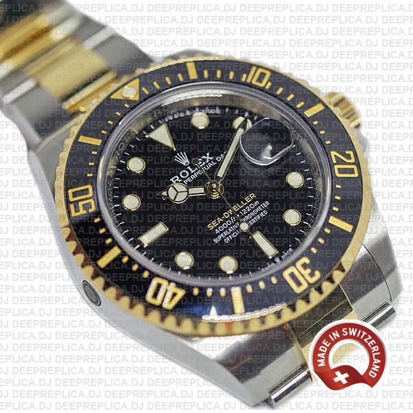 Rolex Sea-Dweller Deepsea 18k Yellow Gold, Two Tone in 904L Stainless Steel Ceramic Bezel 43mm Replica Watch