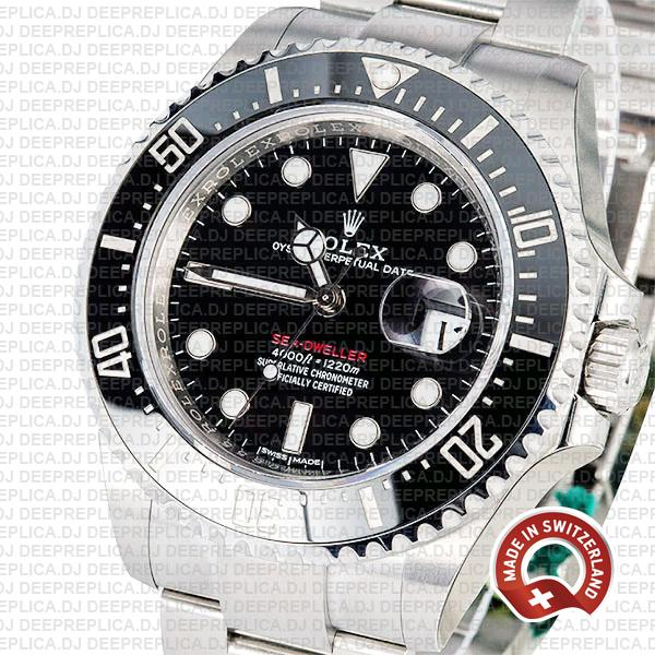 Rolex Sea-Dweller 43mm Oyster Perpetual Watch in 904L Stainless Steel Black Dial 126600