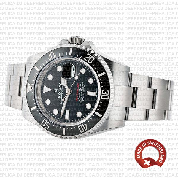 Rolex Sea-Dweller 43mm Oyster Perpetual Watch in 904L Stainless Steel Black Dial 126600 Replica