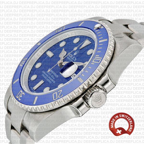 Rolex Submariner 18k White Gold Blue Ceramic 40mm 116619