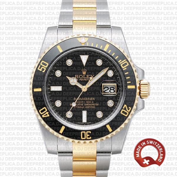 Rolex Submariner 40mm Watch   2 Tone Swiss Replica Watch