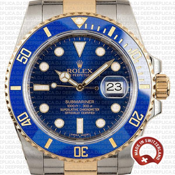 Rolex Submariner 2 Tone 18k Gold Best Replica Rolex Watch
