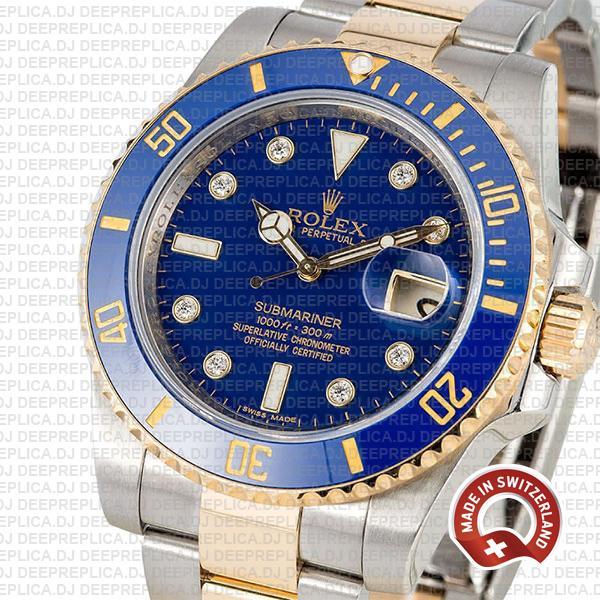 Rolex Submariner Yellow Gold 2 Tone Best Swiss Replica Watch