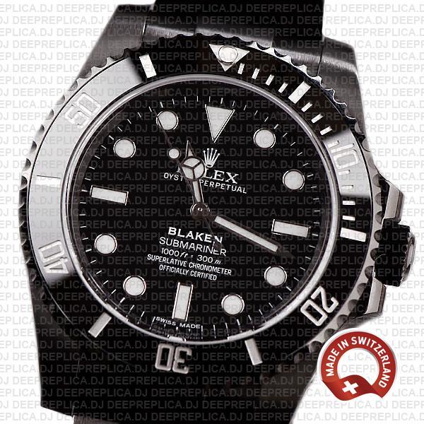 Rolex Submariner Blaken Black Dial DLC & Black Ceramic Bezel 40mm