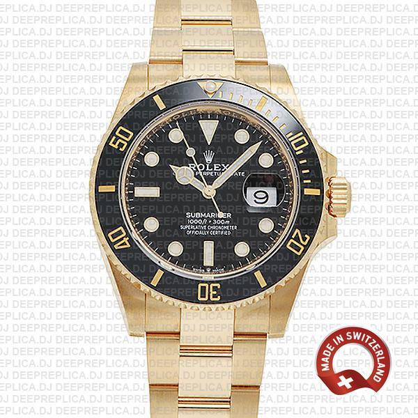Rolex Submariner 41mm 18k Gold | Best Swiss Replica Watch