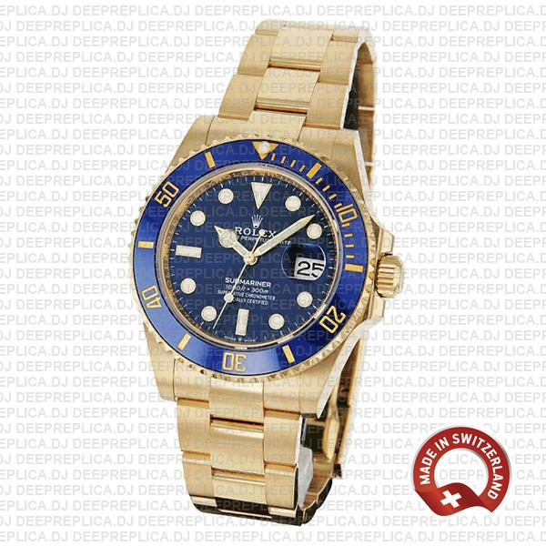 Rolex Submariner Gold Blue Dial Replica Watch