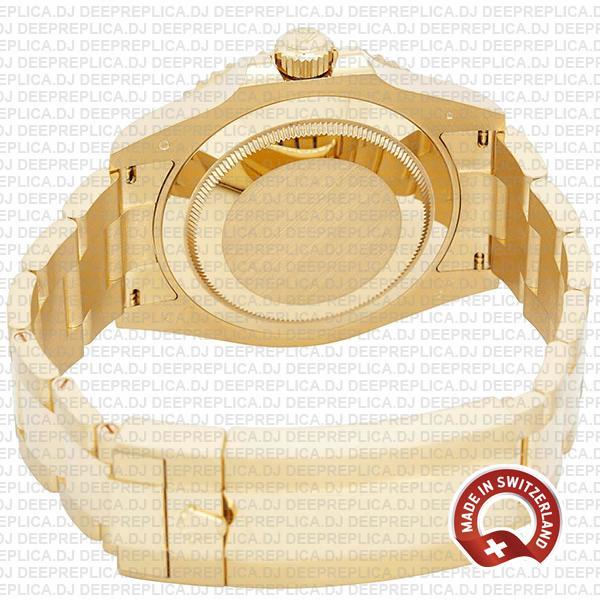Rolex Submariner 41mm 18k Yellow Gold Wrapped 904l Steel Blue Dial Blue Ceramic Bezel 126618lb Swiss Replica Watch