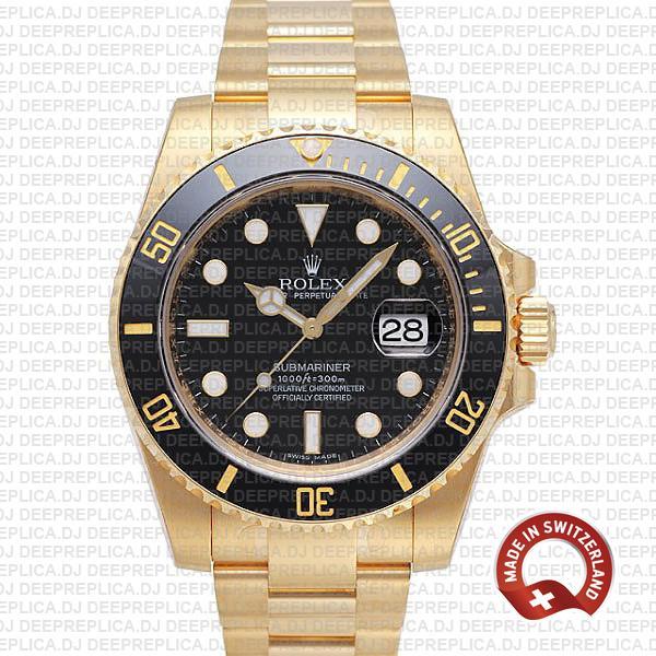 Rolex Submariner 18k Yellow Gold   Best Rolex Replica Watch