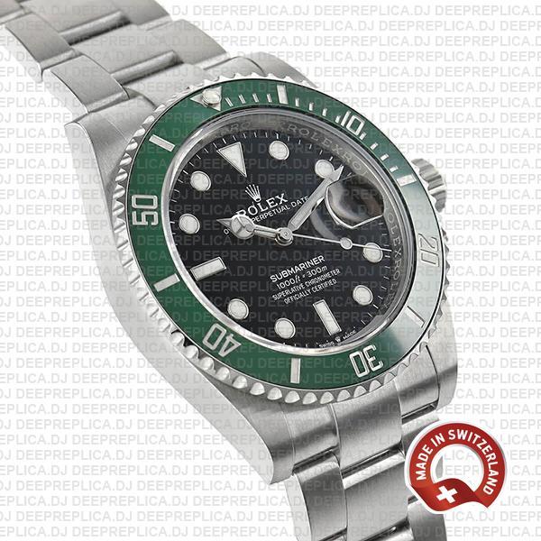 Rolex Submariner 904l Steel Green Ceramic Bezel 41mm 126610lv Swiss Replica Watch Kermit