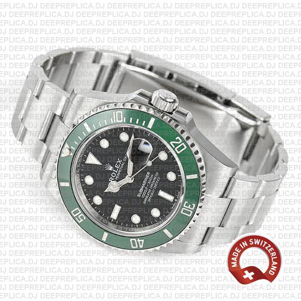 Rolex Submariner 904L Stainless Steel Green Ceramic Bezel 126610LV Rolex Submariner Kermit