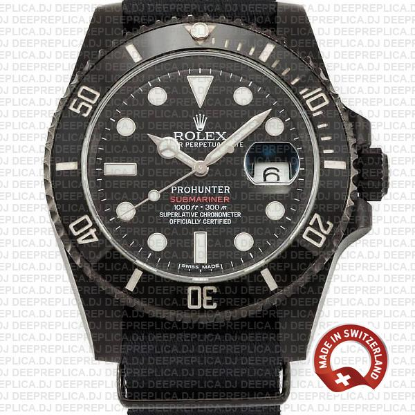 Rolex Submariner Pro Hunter Date NATO Strap Replica Watch