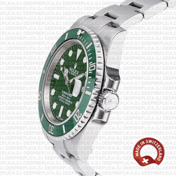 Rolex Submariner Hulk Stainless Steel Swiss Replica Watch