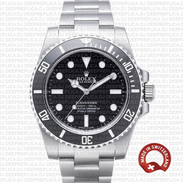 Best Rolex Submariner Replica No Date Black Dial 40mm Watch