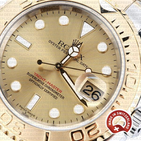 Rolex Yacht-Master Two-Tone Yellow Gold Dial Replica Watch