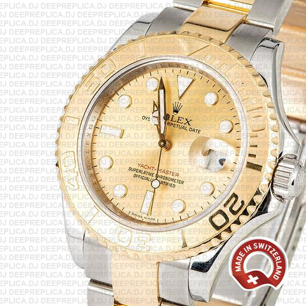 Rolex Yacht-Master Two-Tone Yellow Gold Dial Swiss Replica Watch