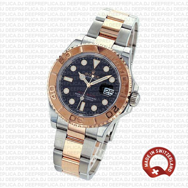 Rolex Yacht-Master Two-Tone Black Dial Best Replica Watch