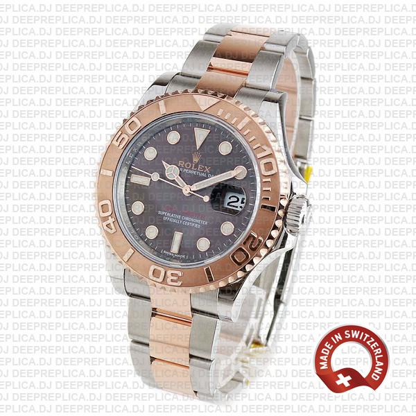 Rolex Yacht-Master Two-Tone Chocolate Dial Deep Replica