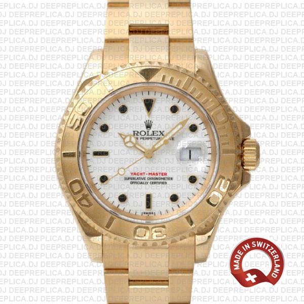 Rolex Yacht Master Gold White 40mm 16628