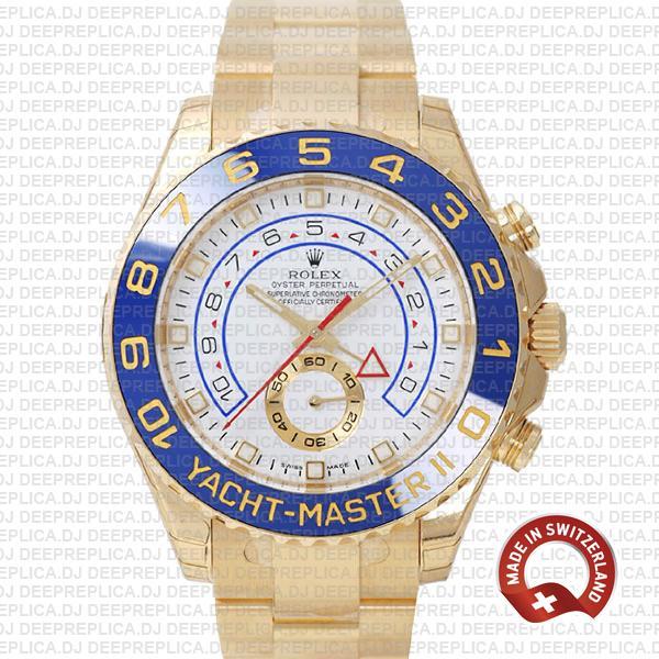 Rolex Yacht-Master II Yellow Gold White Dial | Best Clone Watch