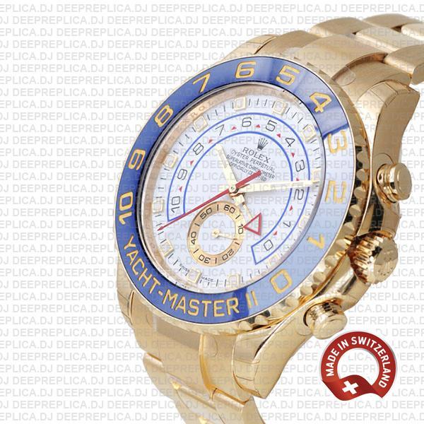 Rolex Yacht-Master II Yellow Gold White Dial Best Clone Watch